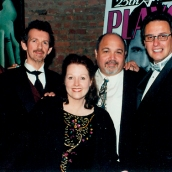 Charlene with Playgirl executives from her days as managing editor of Playgirl